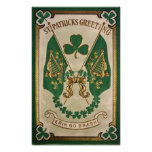 St. Patricks Day Greeting Poster