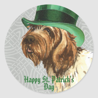 St. Patrick's Day Griffon Round Sticker