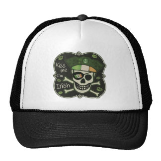 St. Patrick's Day Grungy Irish Pirate Trucker Hat