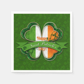 St. Patrick's Day - Happy St. Patrick's Day Paper Napkins