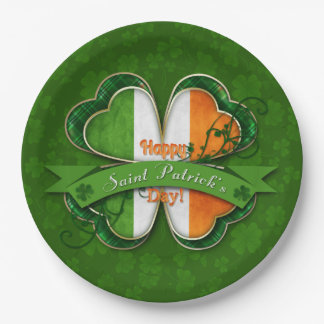 St. Patrick's Day - Happy St. Patrick's Day Paper Plate