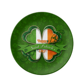 St. Patrick's Day - Happy St. Patrick's Day Porcelain Plate