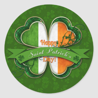 St. Patrick's Day - Happy St. Patrick's Day Round Sticker