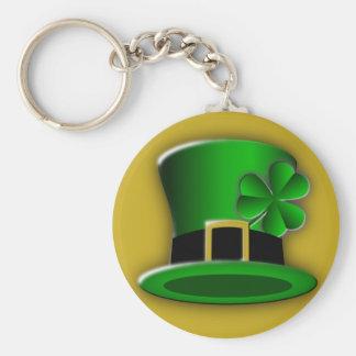 St Patricks Day Hat Classic Round Keychain