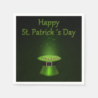 St. Patrick's Day Hat Coins - Paper Napkin