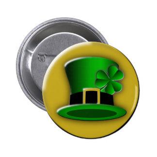 St Patricks Day Hat Round Button