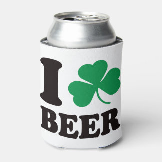 St Patricks Day I Shamrock Beer Can Cooler