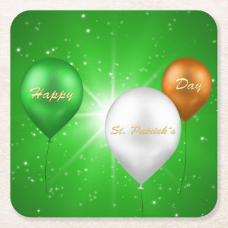 St. Patrick's Day Irish Balloons - Paper Coaster