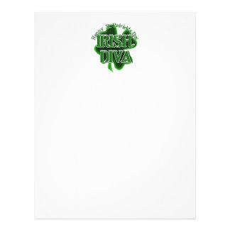 St Patrick's Day Irish Diva 21.5 Cm X 28 Cm Flyer