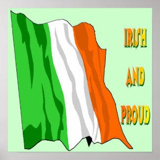 St Patrick's Day Irish Flag Poster