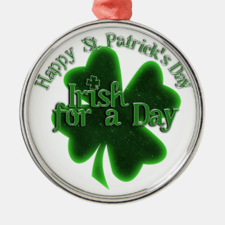 St. Patrick's Day Irish For A Day Christmas Ornament