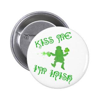 St Patrick's Day Irish Leprechaun Button