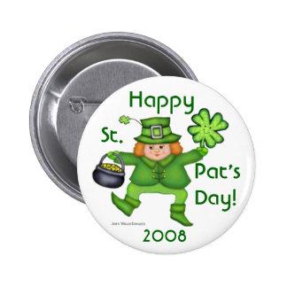 St. Patrick's Day Irish Leprechaun Button