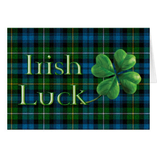 "St. Patrick's Day ""Irish Luck Tartan"" Card"