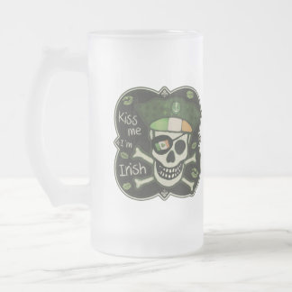 St. Patrick's Day Irish Pirate Glass Mug