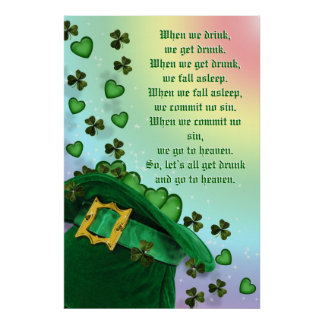St Patricks day Irish Poster