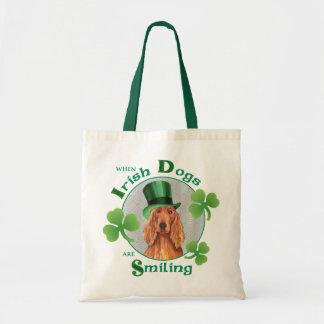St. Patrick's Day Irish Setter Tote Bag