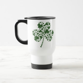 St Patrick's Day Irish Shamrock Clover Travel Mug