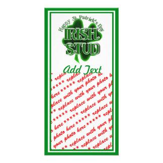 St Patrick's Day  - Irish Stud Customized Photo Card