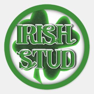 St. Patrick's Day Irish Stud Round Sticker
