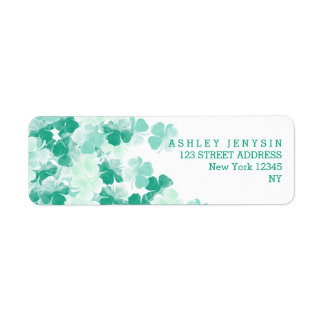 St. Patricks Day Irish watercolor Shamrock pattern