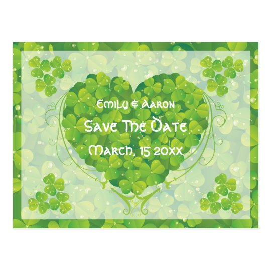 St. Patrick's Day Irish wedding Save the Date
