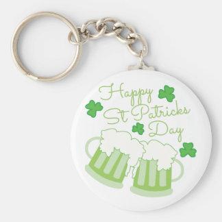 St Patricks Day Basic Round Button Key Ring