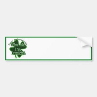 St Patrick's Day - Kiss ME, I'm Drunkish! Bumper Sticker