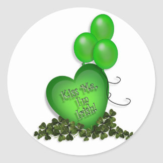 St Patricks Day Kiss me Im Irish Balloons Stickers
