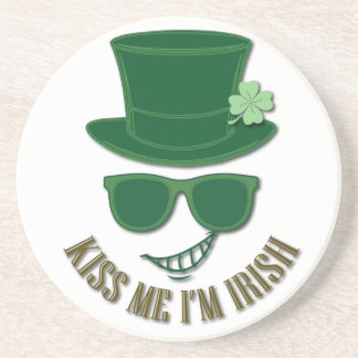 St Patrick's day kiss Me I'M Irish Drink Coaster