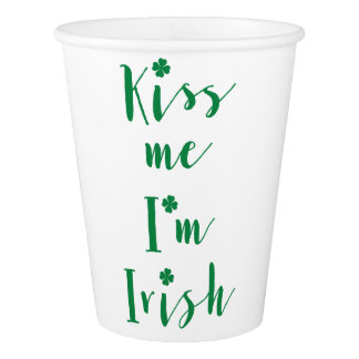 St Patricks Day Kiss Me Im Irish Paper Cups