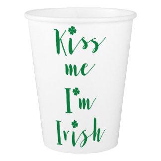 St Patricks Day Kiss Me Im Irish Paper Cups