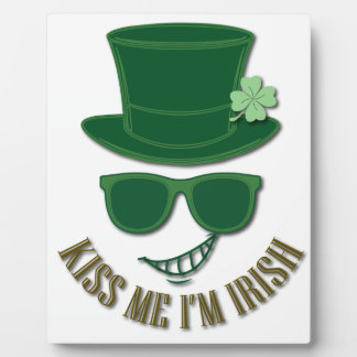St Patrick's day kiss Me I'M Irish Photo Plaques