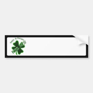 St Patrick's Day  - Kiss Me! (tilt) Bumper Sticker