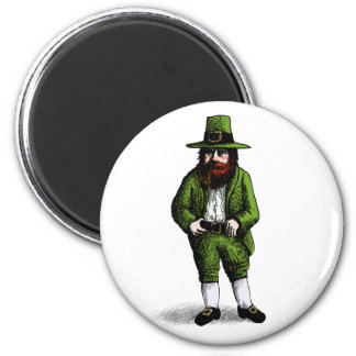 St. Patrick's Day Leprechaun 6 Cm Round Magnet