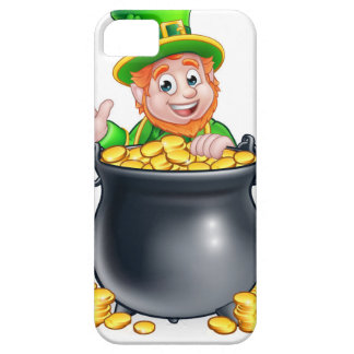 St Patricks Day Leprechaun and Pot of Gold iPhone 5 Case