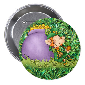 St. Patrick's Day Leprechaun Pinback Button