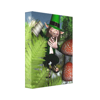 St Patrick's Day Leprechaun Gallery Wrap Canvas