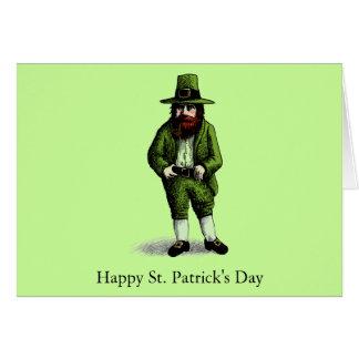 St. Patrick's Day Leprechaun Greeting Card