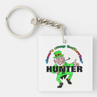 St. Patrick's Day Leprechaun Don't Stop Believing Single-Sided Square Acrylic Key Ring