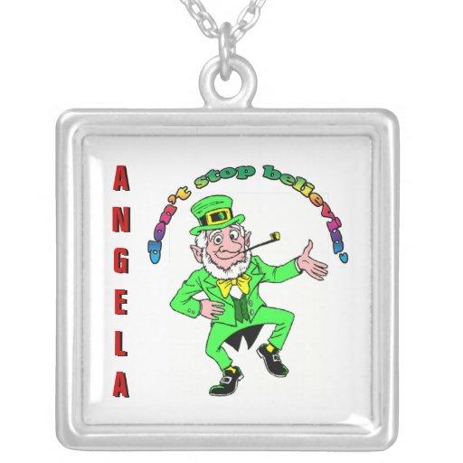 St. Patrick's Day Leprechaun Don't Stop Believing Pendants