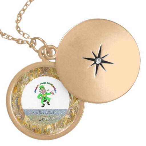 St. Patrick's Day Leprechaun Don't Stop Believing Custom Jewelry