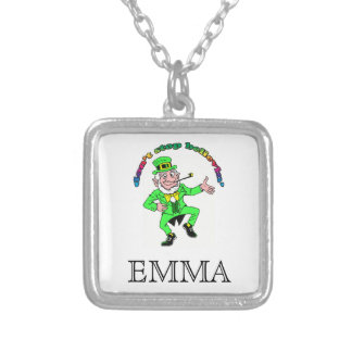 St. Patrick's Day Leprechaun Don't Stop Believing Personalized Necklace