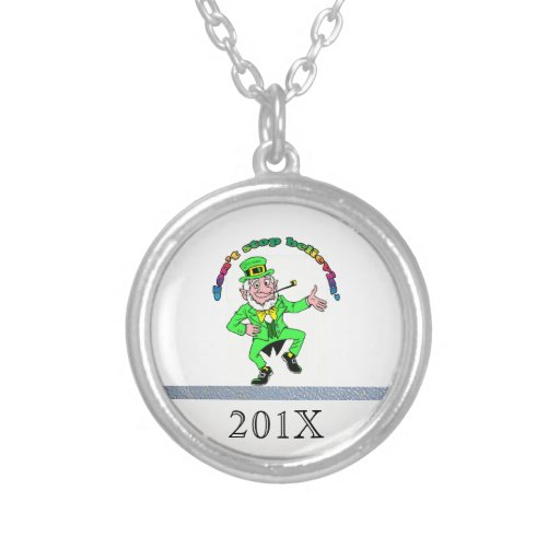 St. Patrick's Day Leprechaun Don't Stop Believing Necklace