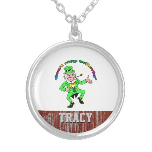 St. Patrick's Day Leprechaun Don't Stop Believing Custom Necklace
