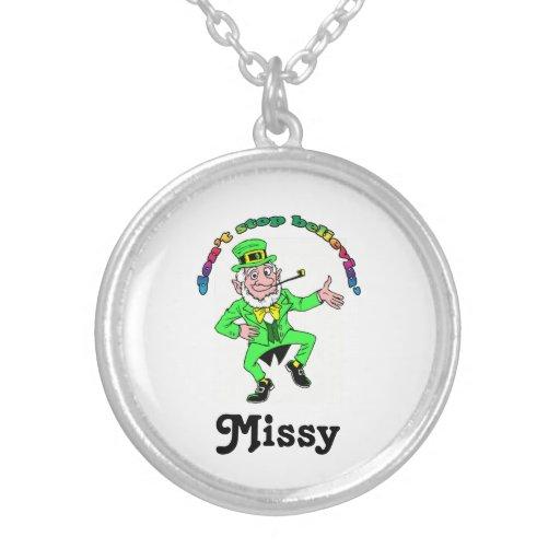 St. Patrick's Day Leprechaun Don't Stop Believing Necklaces