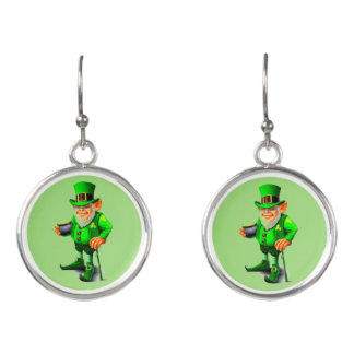 ST. PATRICK'S DAY LEPRECHAUN earrings