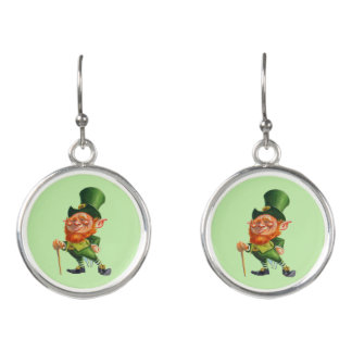 ST.PATRICK'S DAY LEPRECHAUN earrings