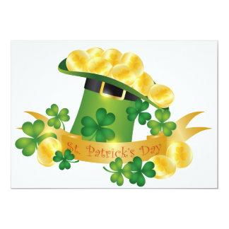 St. Patrick's Day Leprechaun Hat Invitation Card
