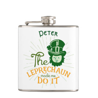 St.Patrick's Day Leprechaun Hip Flask